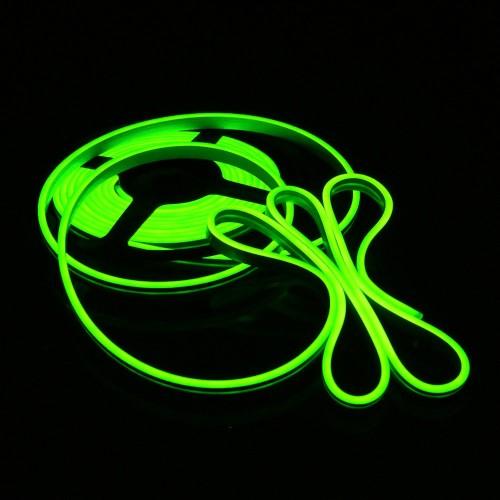 green Flexible LED Strip Waterproof Neon Lights Silicone Tube