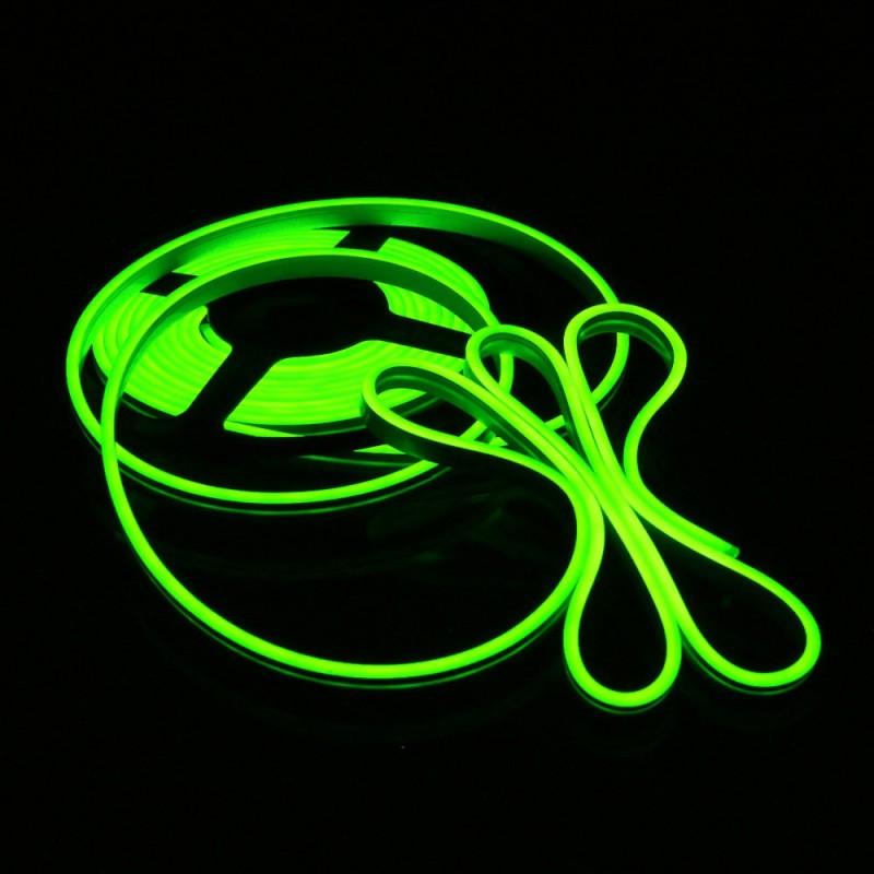 LED FLEX GREEN ΕΥΚΑΜΠΤΗ ΤΑΙΝΙΑ ΜΕ ΠΡΑΣΙΝΑ NEON LED 12V 5M