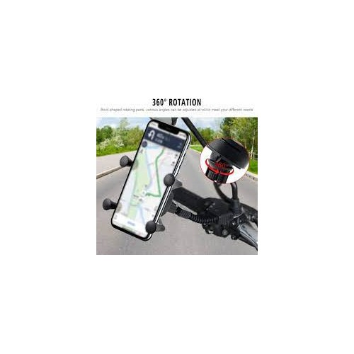 Motorbike Mobile Phone Holder Mount X Grip Clamp for Smartphone GPS