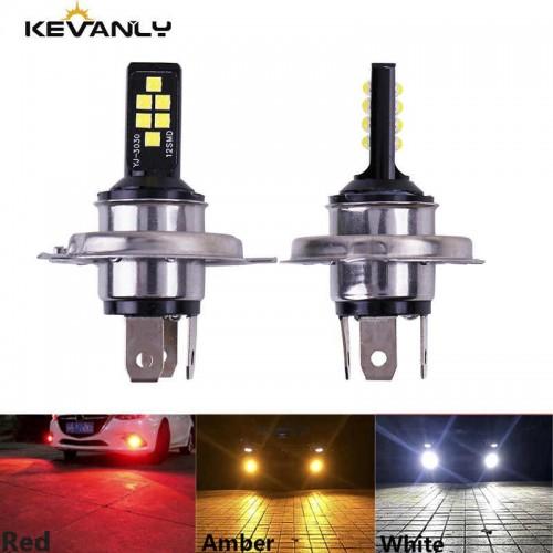 H4 LED Lamp Car Hi/Lo beam LED Headlight 12 SMD 3030 Light Bulb