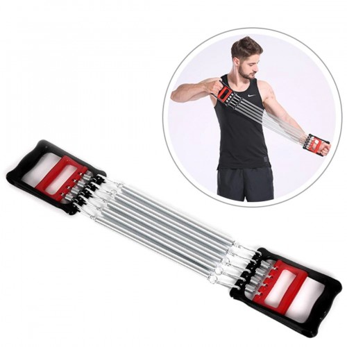 5 Spring Chest Expander Exercise Puller Muscle Stretcher Training Gym Pull