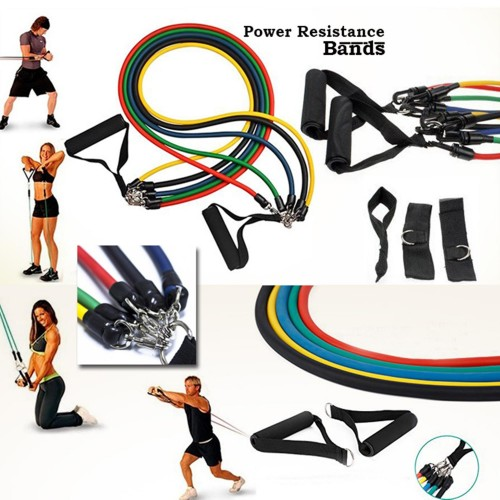 Power Resistance Bands And Tubes Set of 5