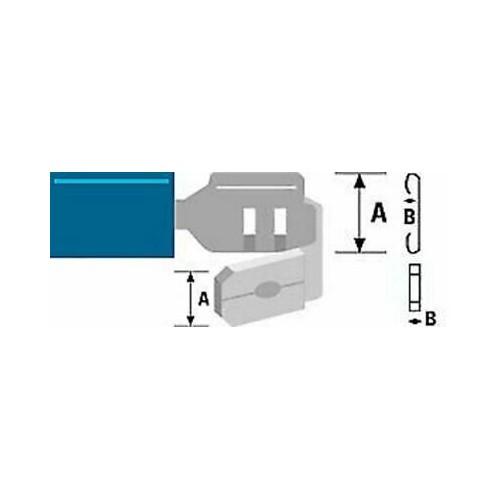 ΑΚΡΟΔΕΚΤΗΣ FASTON ΜΕ ΜΟΝΩΣΗ ΑΡΣ. & ΘΥΛ. 6,4mm ΓΙΑ ΑΓΩΓΟΥΣ 2,5mm