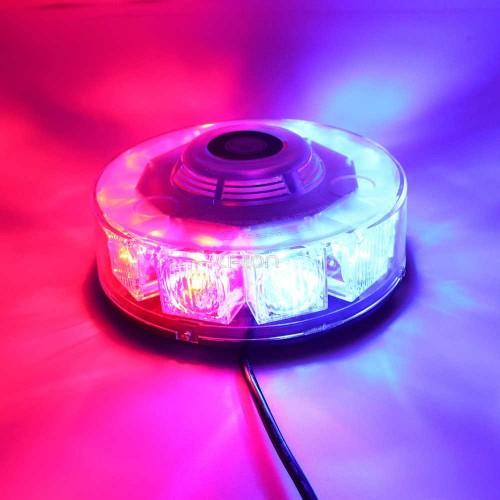 48W Round COB LED Roof Top Emergency Hazard Flash Warning LED