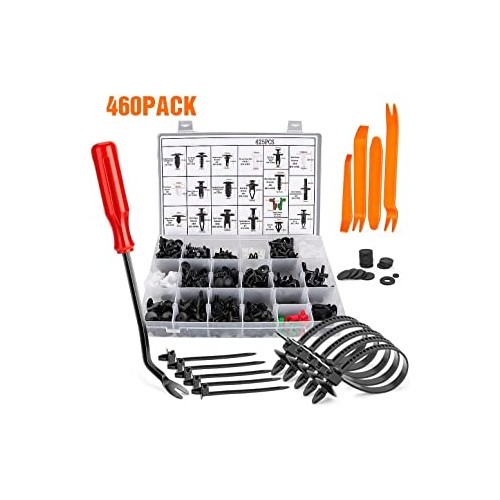 460 PCS Auto Body Retainer Clips Plastic Fasteners Set With Tool For GM Ford Door Trim Panel Retainer Fastener Kit
