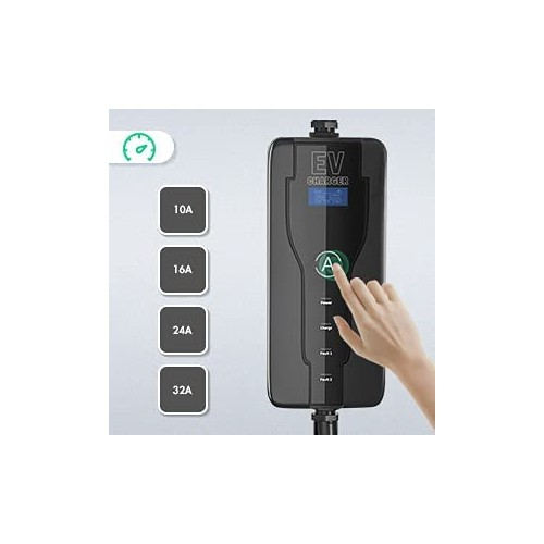 DUOSIDA 7 kW portable charging connector adjustable 8- 32A Type 2 to CEE plug