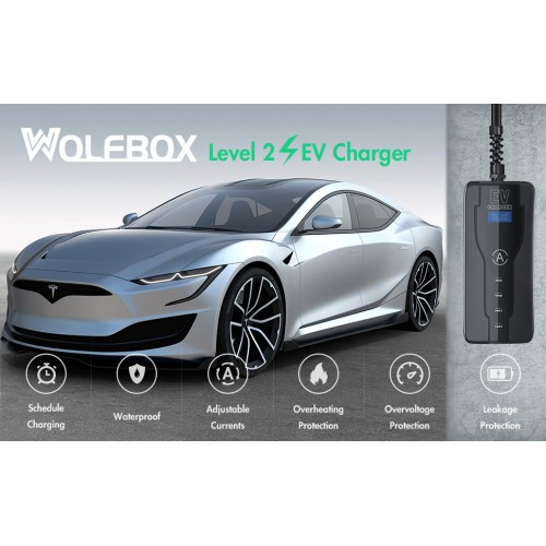 EV portable charging cable Type 2 to CEE plug with controlbox 32A