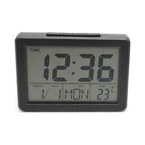 DS-2619 Ψηφιακό Ρολόι Επιτραπέζιο με Ξυπνητήρι DS2619 Μαύρο Ψηφιακό Ρολόι Επιτραπέζιο με Ξυπνητήρι DS2619 Μαύρο