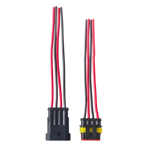 Sets Waterproof Auto Wire Harness Male/Female Electrical Connector Plug 4-Pin