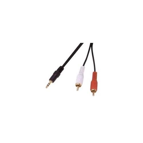 3.5mm Stereo Plug - 2 RCA Plug Cable 5m