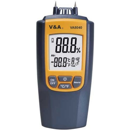 va-8040 Digital Moisture meter with built-in thermometer
