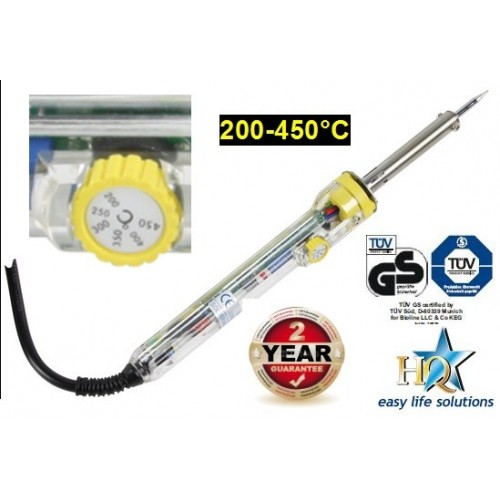 Soldering iron with temperature control