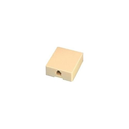 SURFACE-MOUNT TELEPHONE JACK 6P4C SMALL