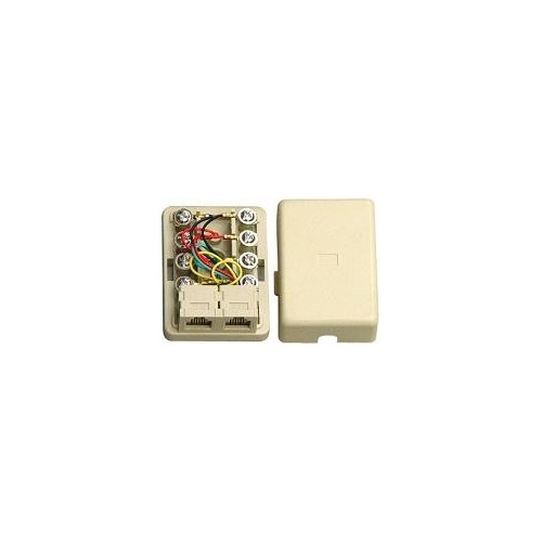 MOUNT TELEPHONE JACK 6P4C DOUBLE COMP