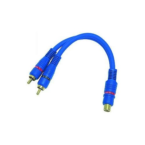RCA Female To 2 RCA Male Splitter Cable Audio Splitter Distributor Converter Cable Cord Line Wire For Car Audio System