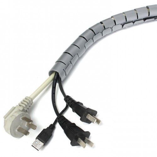 Minadax professioneller HighTech 2 Meter Kabelschlauch Kabelkanal in grau