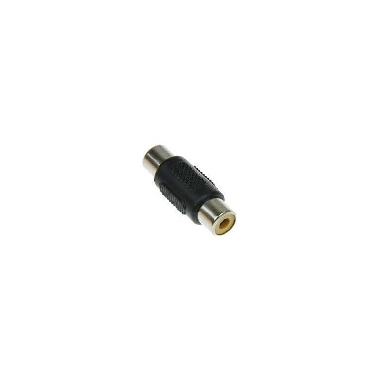 FEMALE RCA ADAPTOR PLASTIC TO FEMALE RCA NICKEL