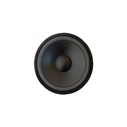 "High-cut Wave Paper Cone Series Woofer Megaphone with Black Foam Edge 10\"", 8Ω, 250W."