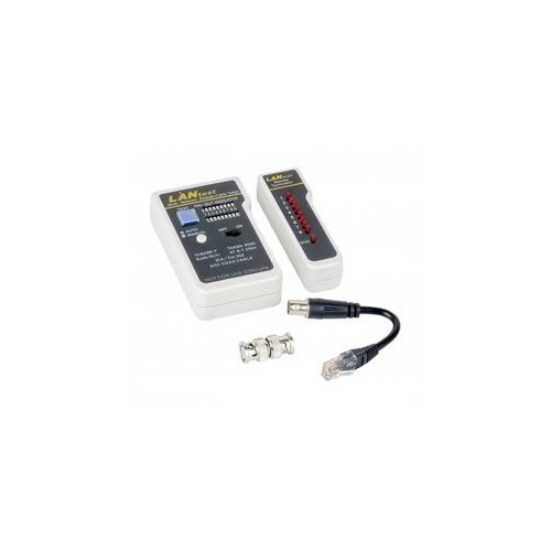 LAN CABLE TESTER WITH REMOTE UNIT& BNC & DUAL DISPLAY