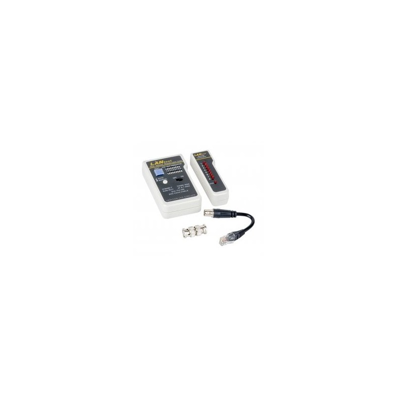 LAN CABLE TESTER WITH REMOTE UNIT& BNC & DUAL DISPLAY 12-25-055 COMP
