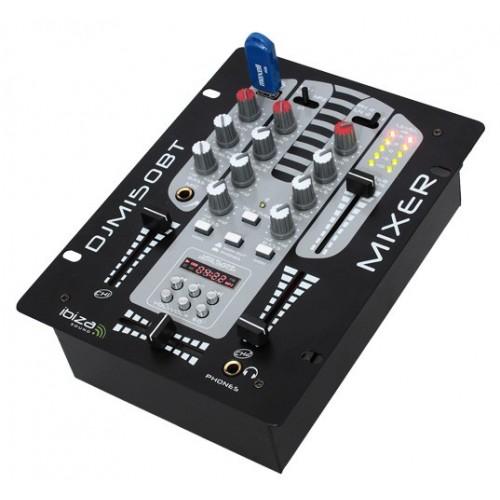 Ibiza djm150usb-bt 5 canaux Table de mixage avec usb-mp3, Bluetooth