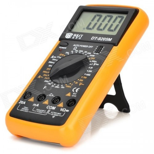 DT9205A Handheld LCD Display Digital Multimeters DMM with AC DC