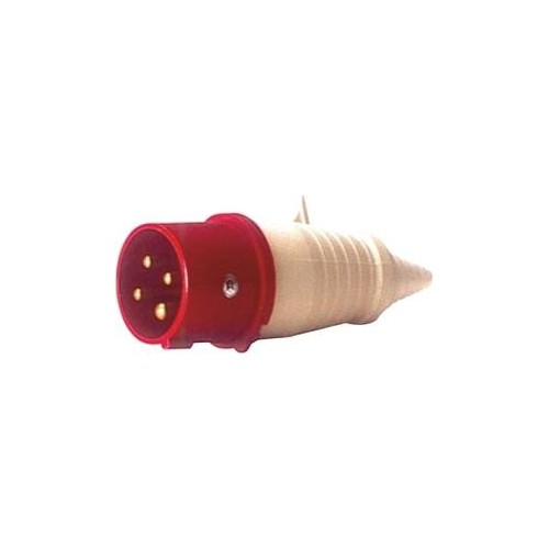 MALE INDUSTRIAL PLUG 4P 16A 014-6 IP44