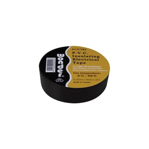 ΜΟΝΩΤΙΚΗ ΤΑΙΝΙΑ WONDER ΑΚΑΥΣΤΗ PVC 0,13*19mm 0-60° C ΜΑΥΡΗ