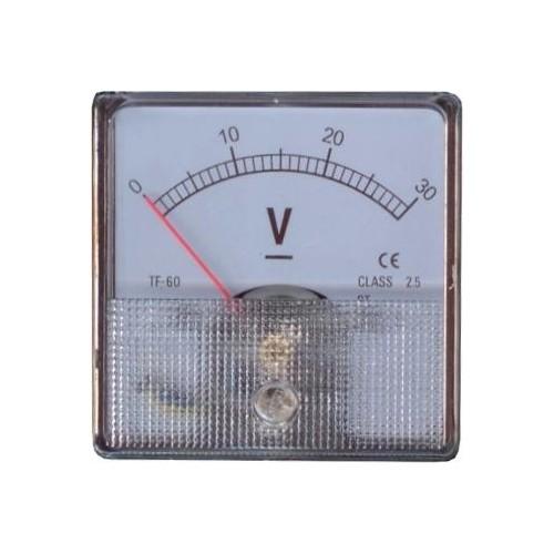 ΑΝΑΛΟΓΙΚΟ ΒΟΛΤΟΜΕΤΡΟ ΓΙΑ ΠΑΝΕΛ 0-30 Vdc 6*6cm