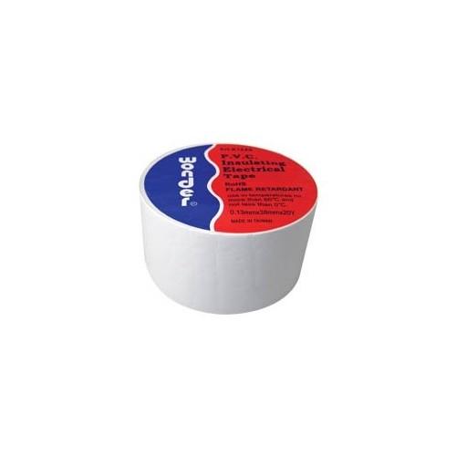 ΤΑΙΝΙΑ ΜΟΝΩΤΙΚΗ PVC 0.13X38X20Y ΛΕΥΚΗ