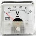 ΑΝΑΛΟΓΙΚΟ ΒΟΛΤΟΜΕΤΡΟ ΓΙΑ ΠΑΝΕΛ 0-50 Vdc 6*6cm