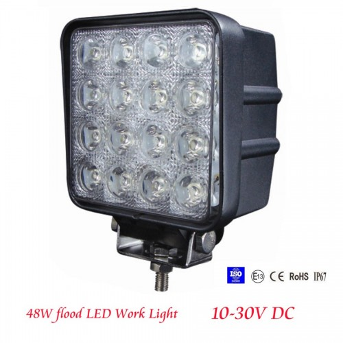 48W 12V 24V SPOT Lamp Led Work Light Boat Tractor Truck Offroad