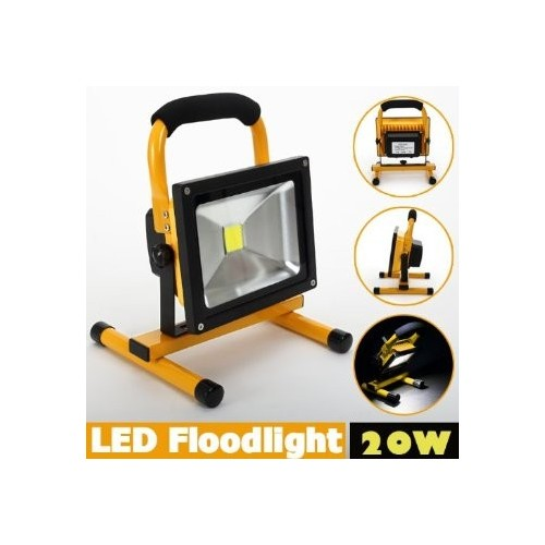 20W Floodlight Rechargeable LED Flood Light Lamp portable Outdoor