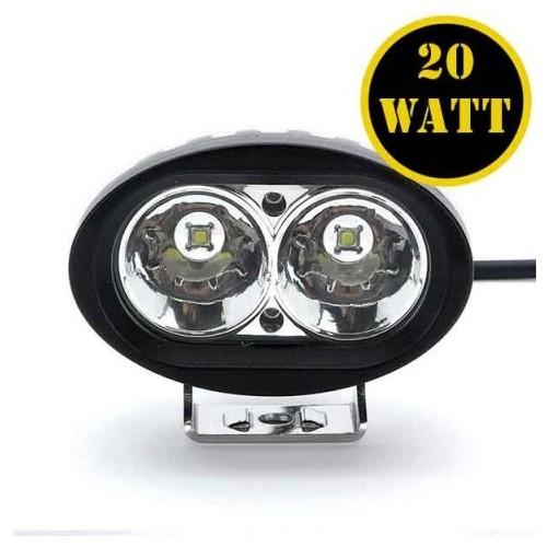 20W Led Driving Lights Motorcycle Led Work Light 12V Led Spot Light Offroad - BLACK 2