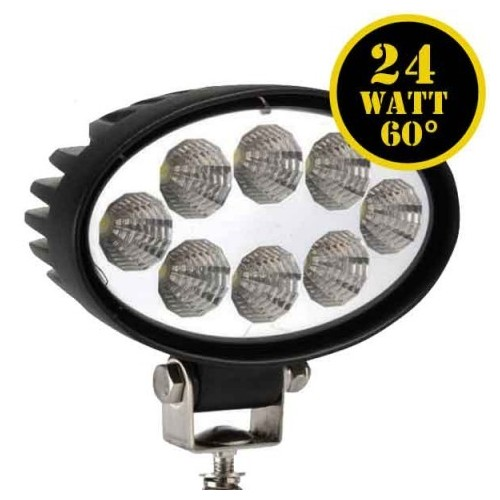 LED Driving Lights 24W OVAL