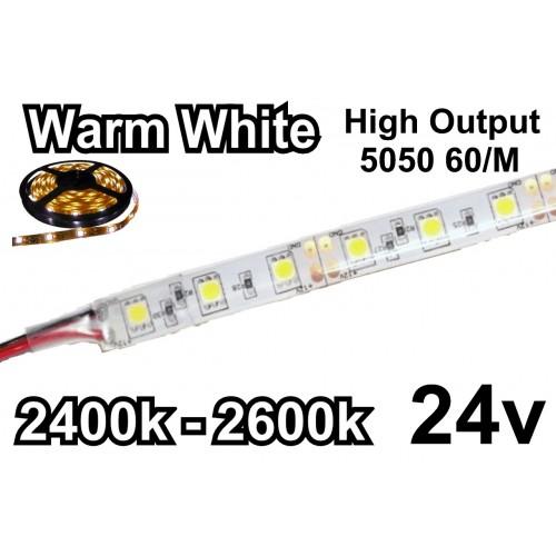 ΑΔΙΑΒΡΟΧΗ ΤΑΙΝΙΑ LED ΚΙΤΡΙΝΟ 24VDC 14.4 W/m IP65