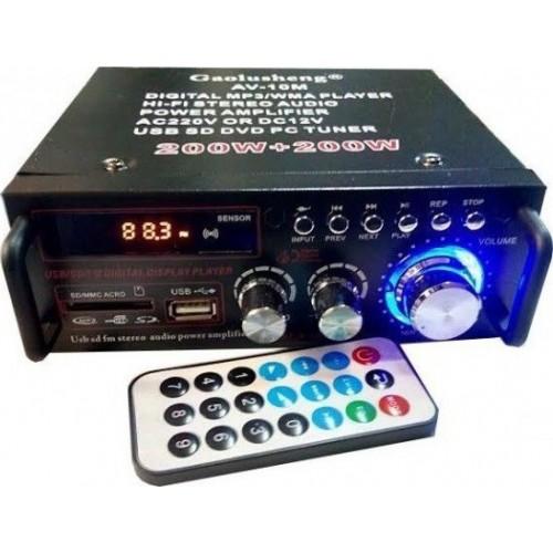 ΡΑΔΙΟ ΕΝΙΣΧΥΤΗΣ HI-FI + USB - MP3 + ΤΗΛΕΧΕΙΡΗΣΤΗΡΙΟ