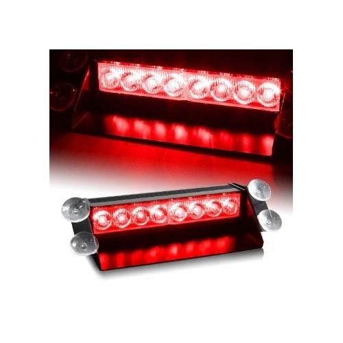 8 LED CAR VEHICLE WINDSHIELD DASHBOARD EMERGENCY STROBE LIGHT LAMP AMBER