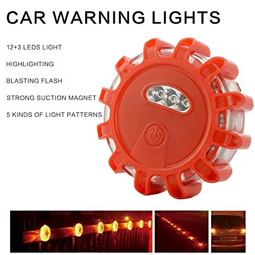 LED Road Flare Strobe Warning Lights Beacon with Magnetic Base