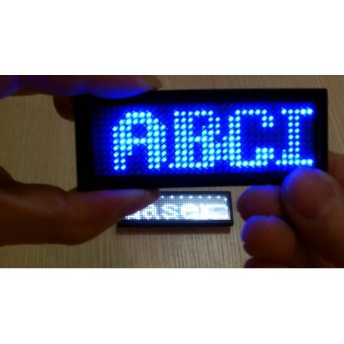LED ΕΠΙΓΡΑΦΗ ΚΑΡΦΙΤΣΑ ΜΠΛΕ 10.1 cm x 3.3 cm