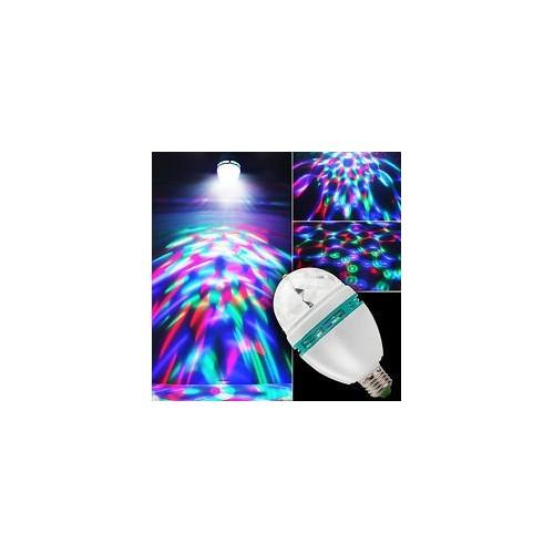 LED LIGHT EFFECT LAMP E27 ΑΥΤΟΝΟΜΗ 3X1W