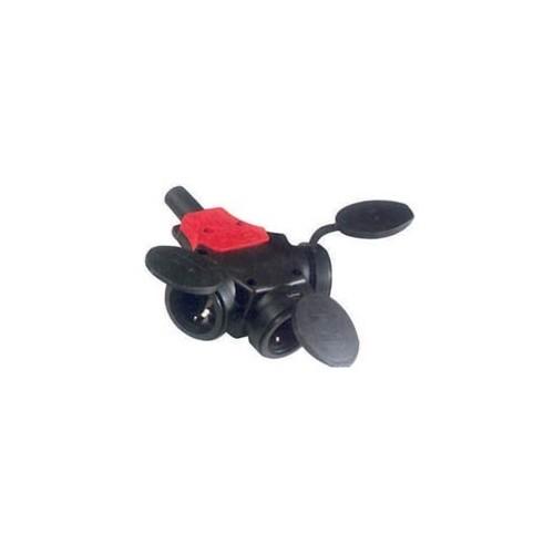 Конектор захранващ AC разклонител Схема: 2P+PΕ черен,червен ROH